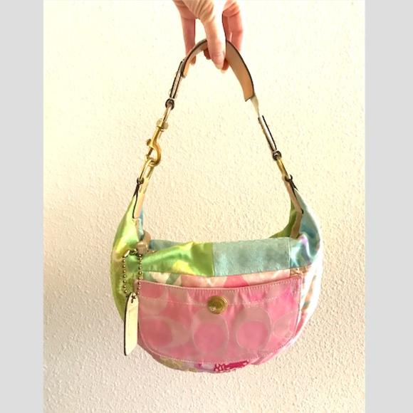 Coach Handbags - Coach c-logo patchwork spring C-logo micro hobo